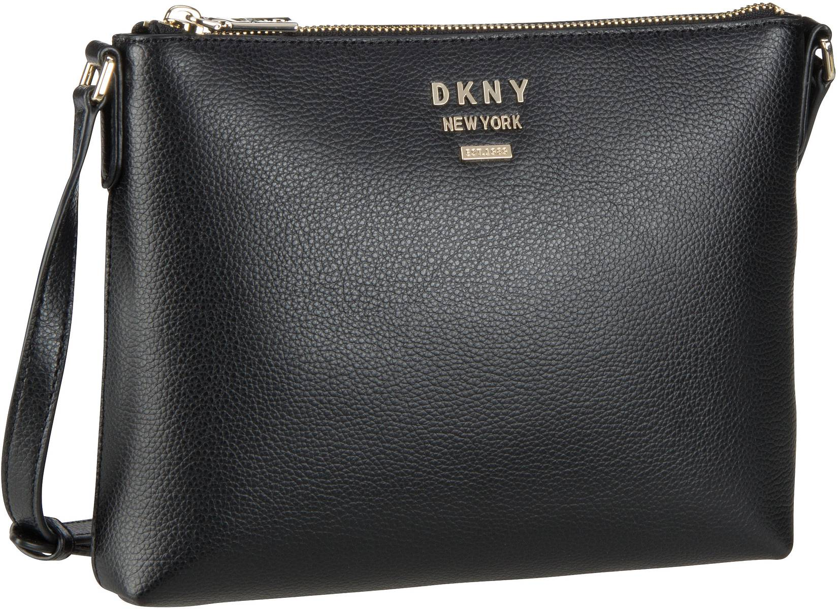 Umhängetasche Whitney Pebble Flat Crossbody Black/Gold