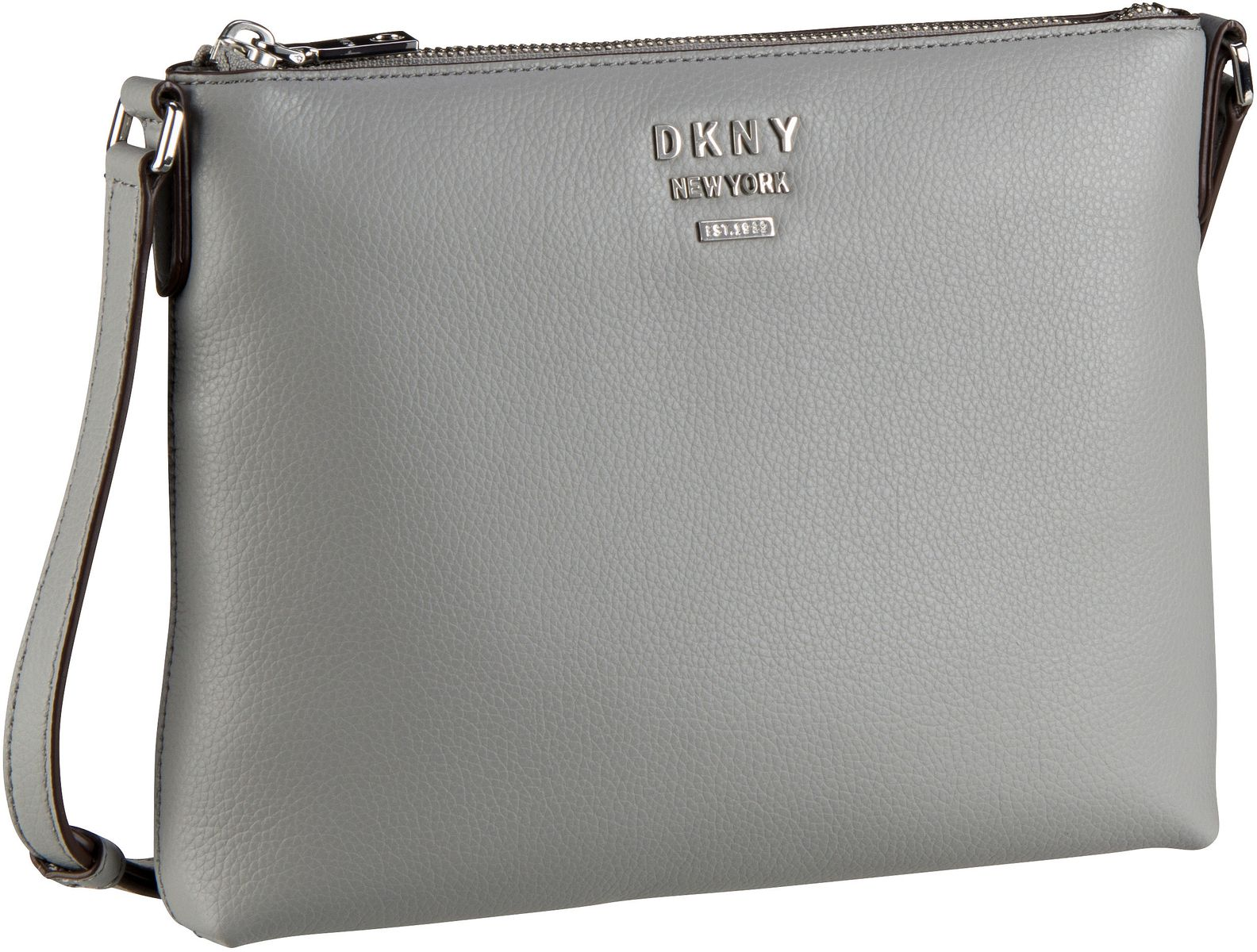 Umhängetasche Whitney Pebble Flat Crossbody Grey Melange