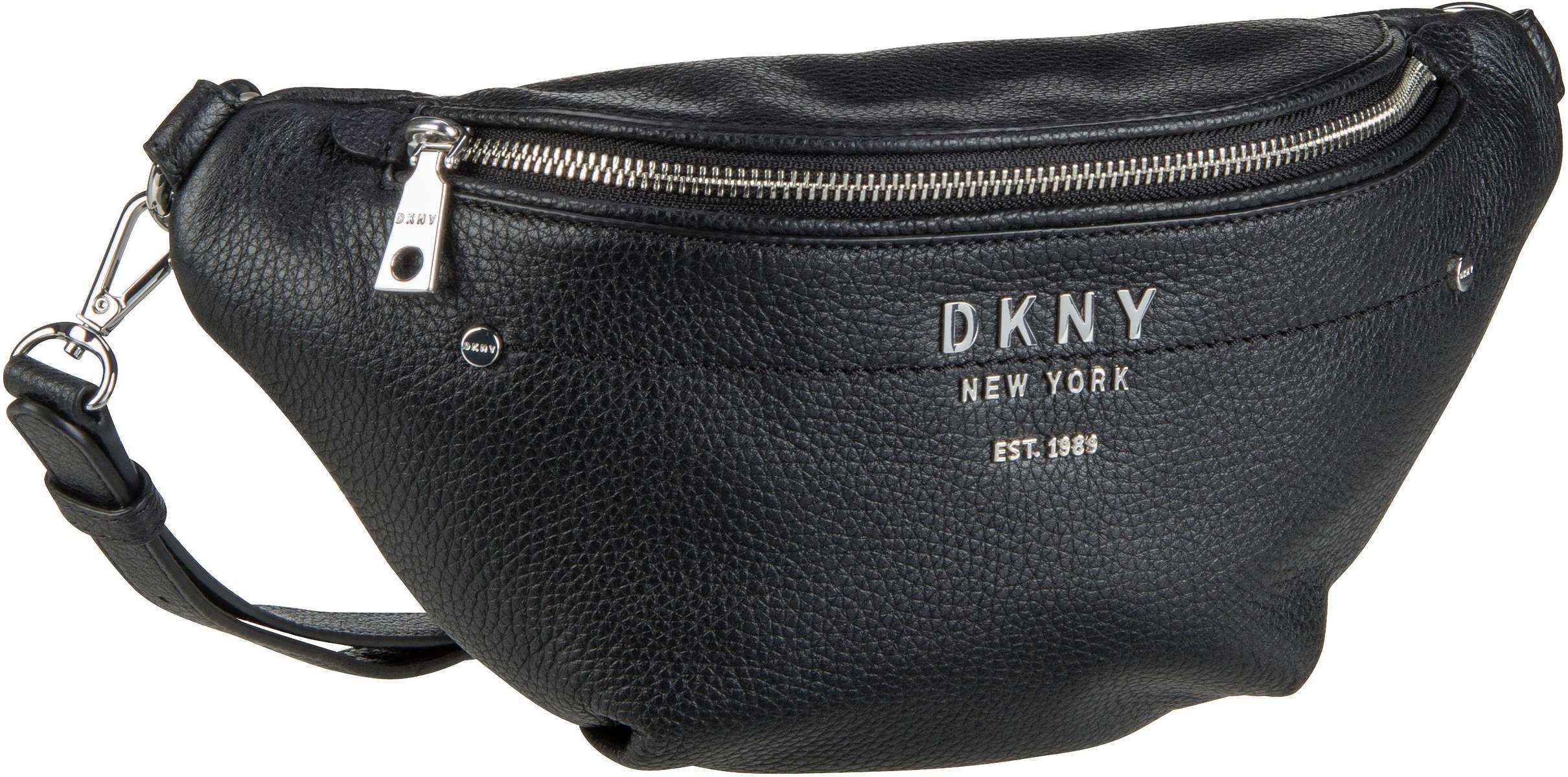 Kleinwaren - DKNY Gürteltasche Erin Pebble Belt Bag Black Silver  - Onlineshop Taschenkaufhaus