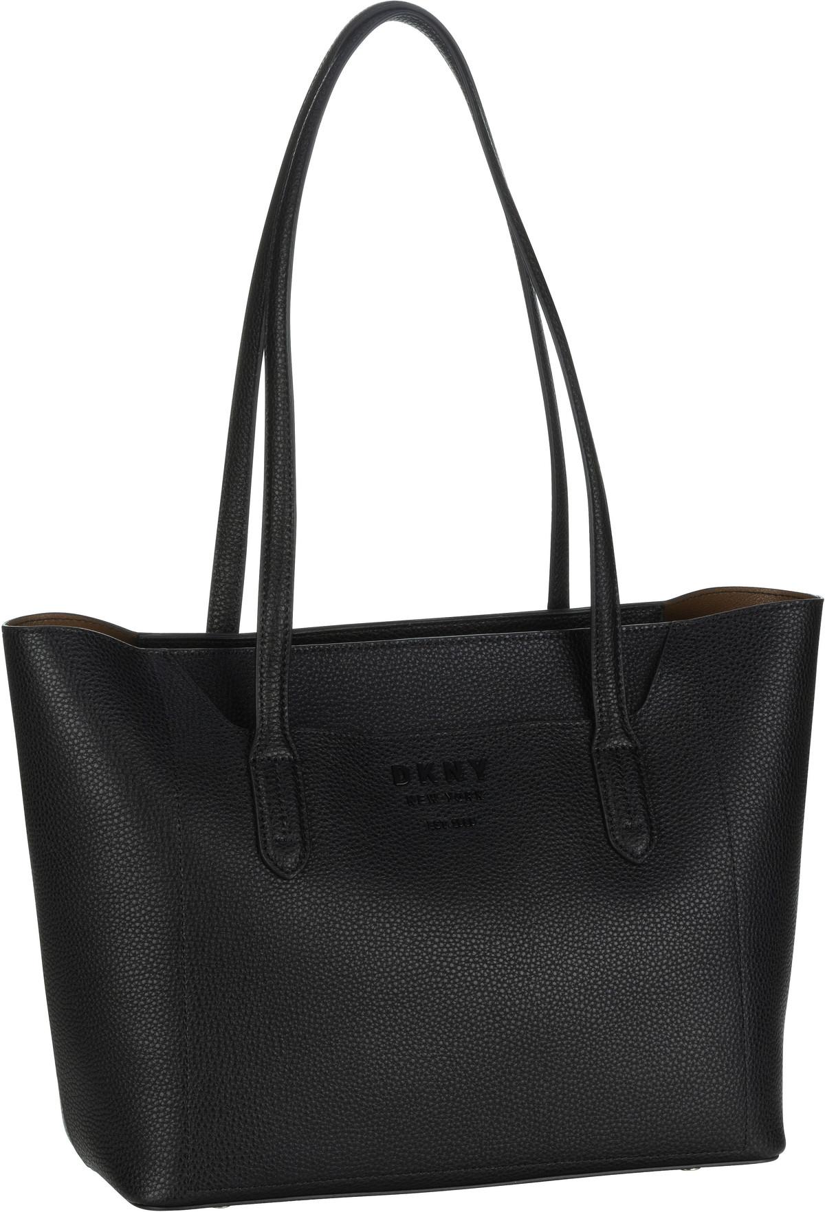 Handtasche Noho Pebble EW Tote Black/Vicuna (innen: Braun)