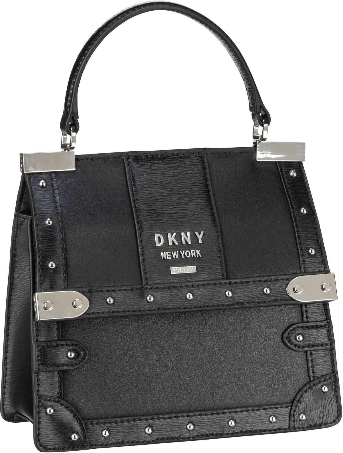 Handtasche Louise Nappa Top Handle Satchel Black/Silver