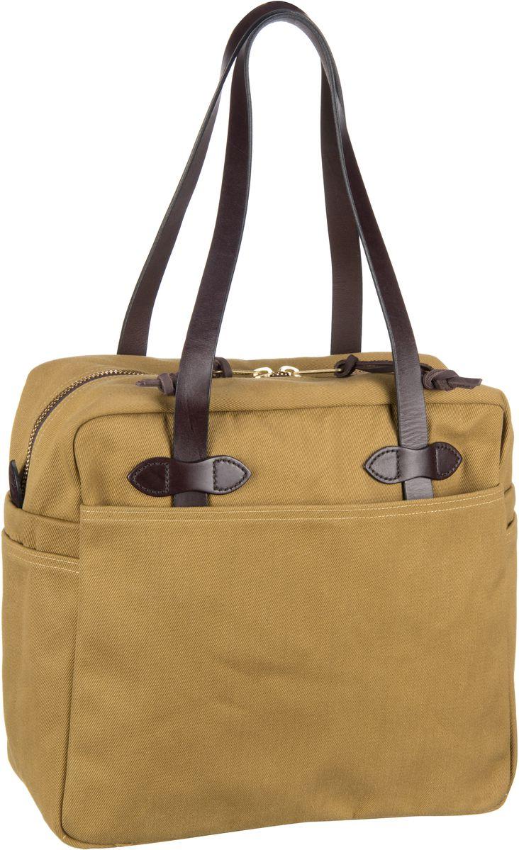 Filson Handtasche Tote Bag with Zipper Dark Tan (25 Liter)