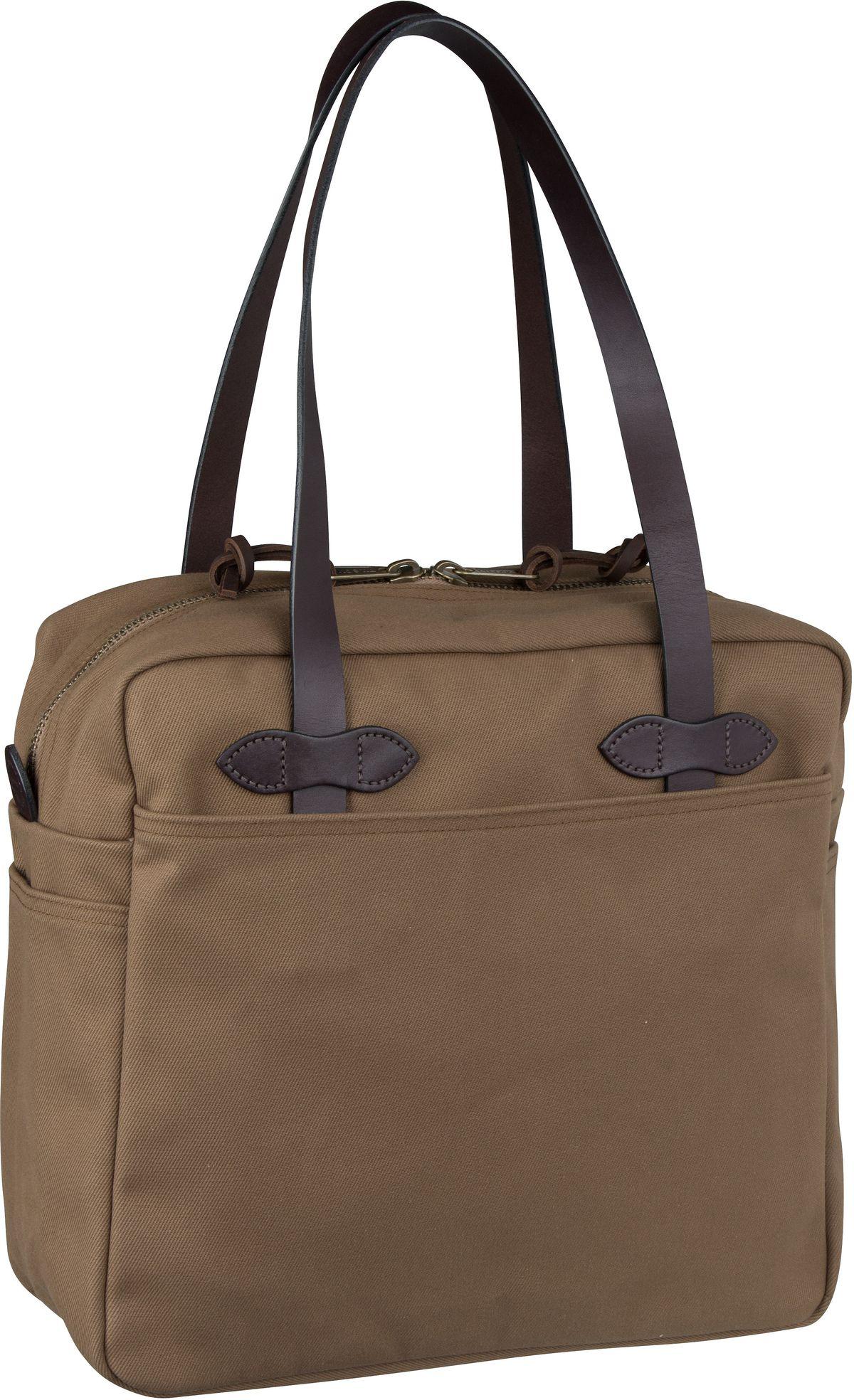 Filson Handtasche Tote Bag with Zipper Sepia (25 Liter)