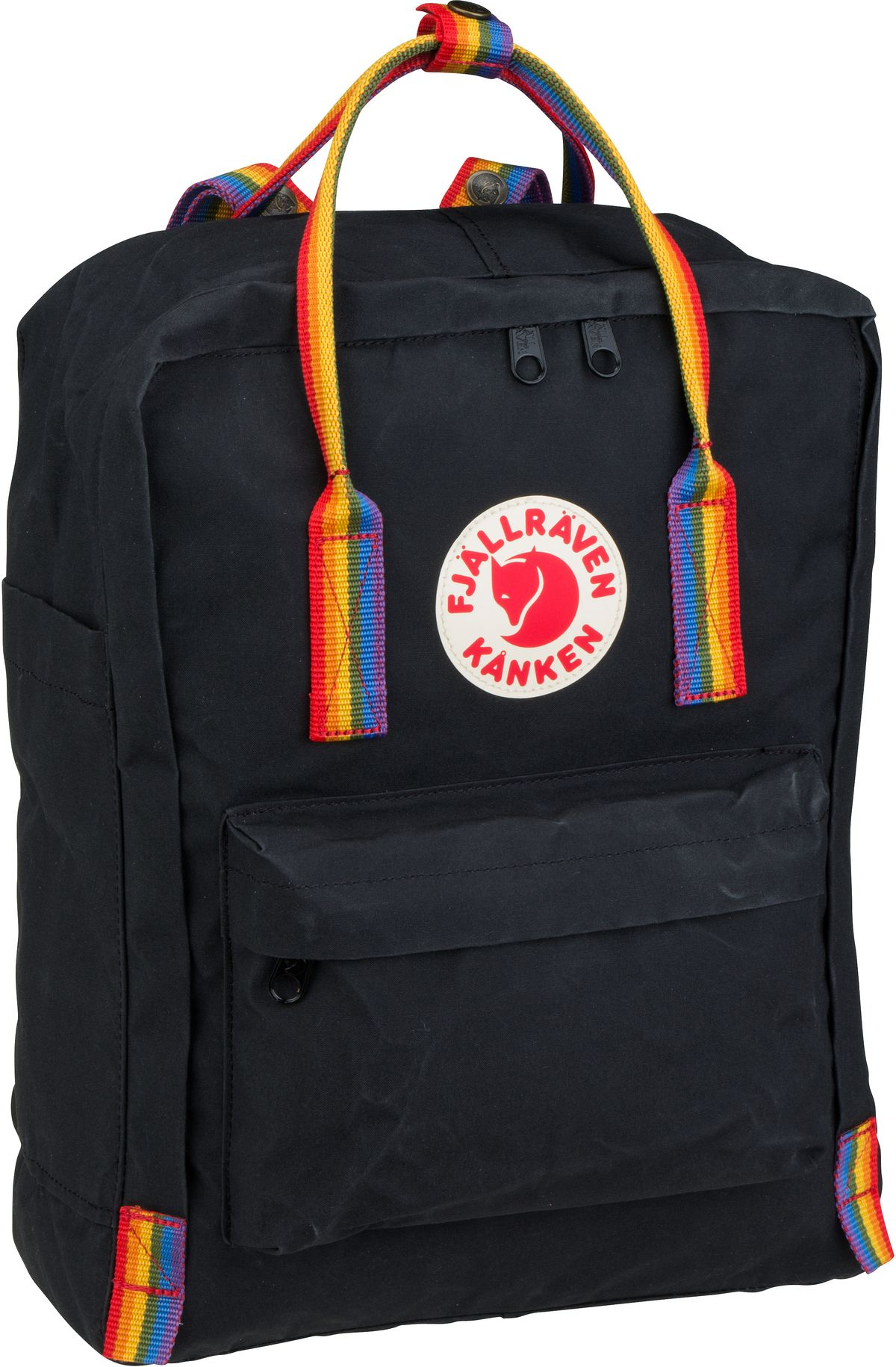 Rucksack / Daypack Kanken Rainbow Black/Rainbow Pattern (16 Liter)