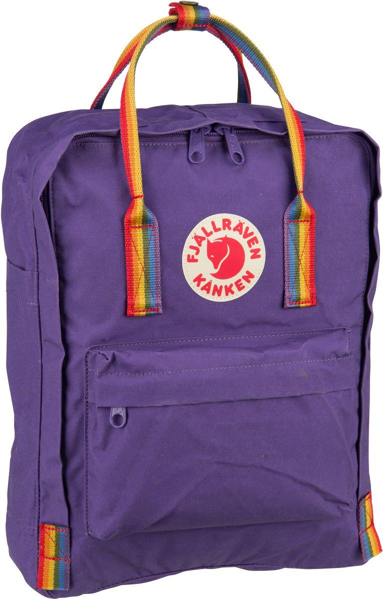 Rucksack / Daypack Kanken Rainbow Purple/Rainbow Pattern (16 Liter)