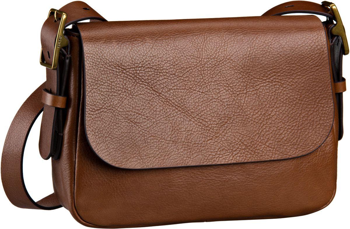 Schultertaschen für Frauen - Fossil Satteltasche Harper Small Crossbody Brown  - Onlineshop Taschenkaufhaus