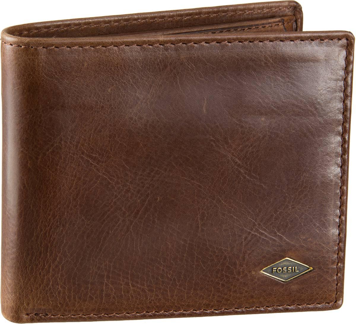 Ryan RFID Large Coin Pocket Bifold Dark Brown