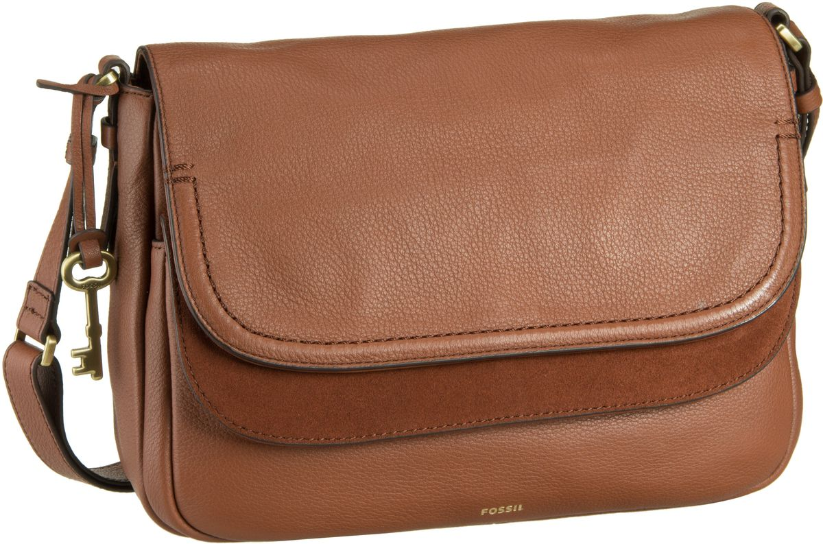 Fossil Peyton Large Double Flap Brown Umhängetasche