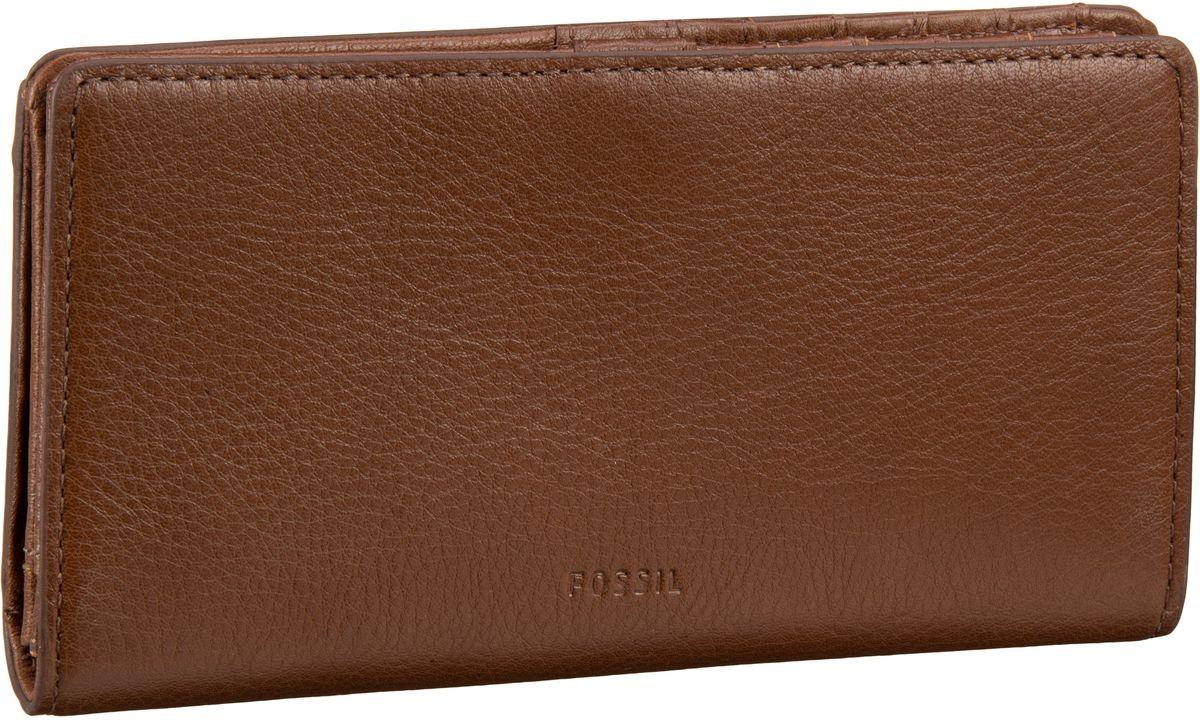 Caroline RFID Slim Bifold Wallet Brown