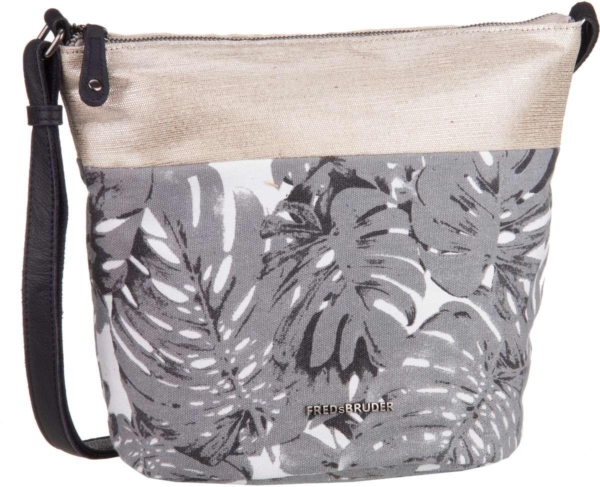 Schultertaschen für Frauen - Fredsbruder Umhängetasche Love Me! Grey Leaf  - Onlineshop Taschenkaufhaus