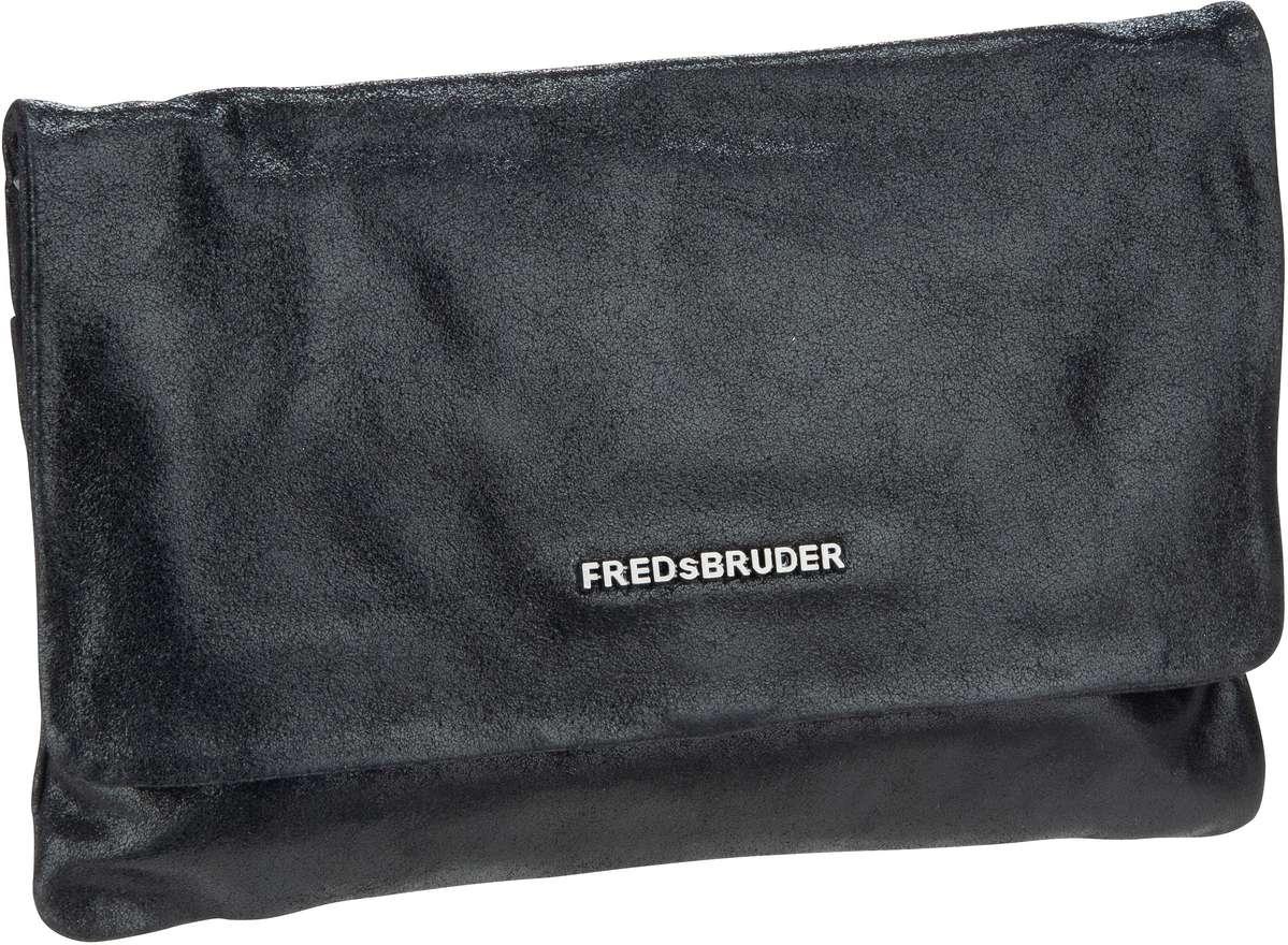 Clutches für Frauen - Fredsbruder Clutch Bright Small Clutch With Chain Metallic Black  - Onlineshop Taschenkaufhaus
