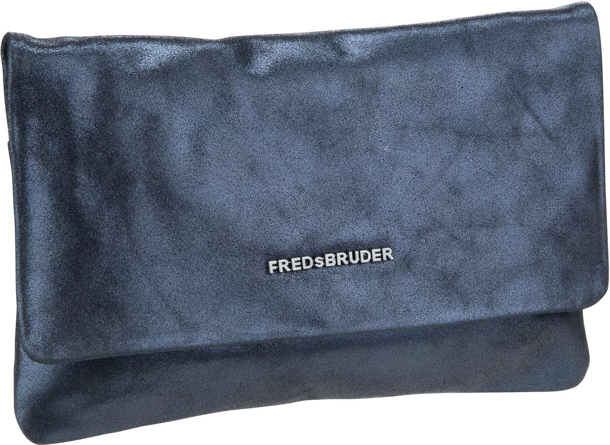 Clutches für Frauen - Fredsbruder Clutch Bright Small Clutch With Chain Metallic Blue  - Onlineshop Taschenkaufhaus
