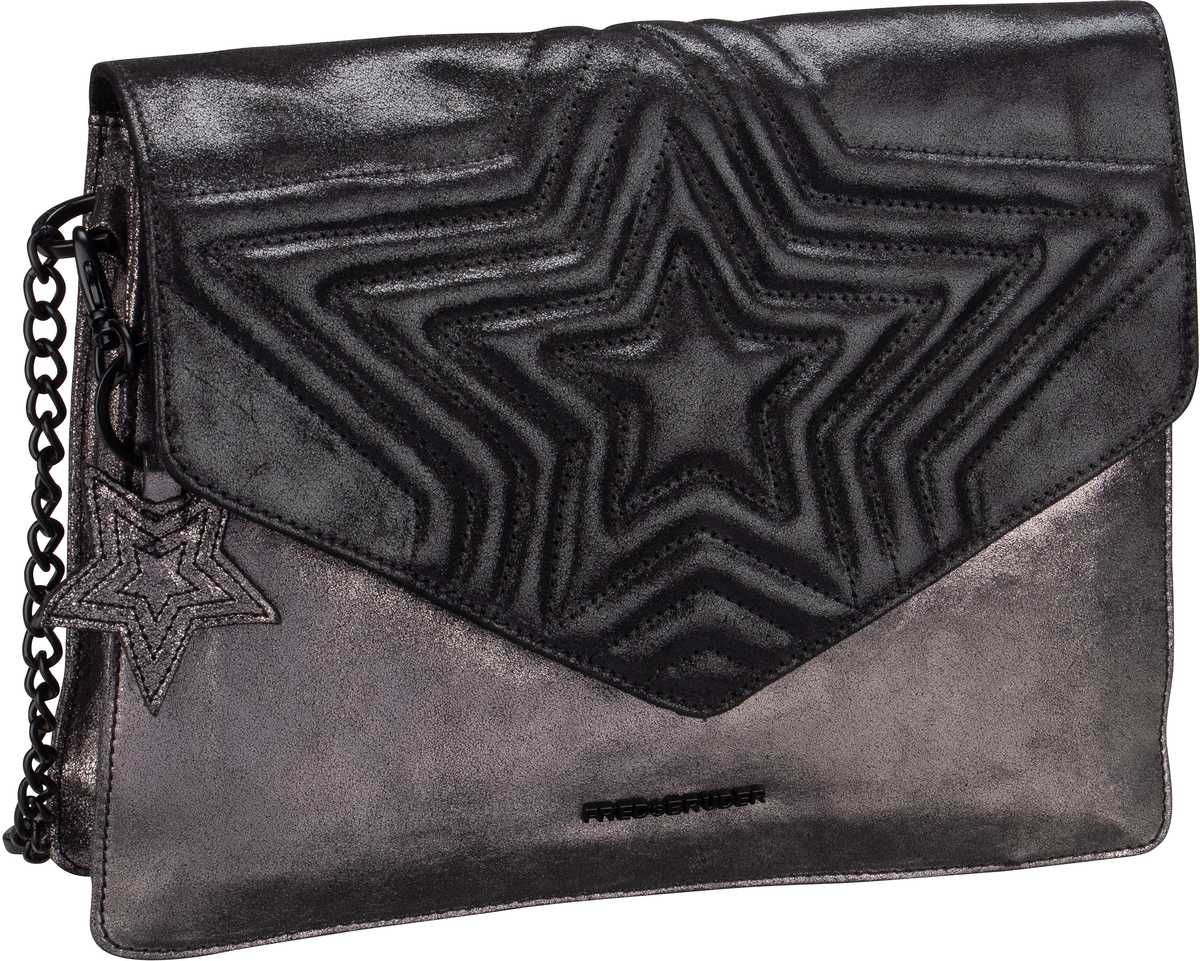 Handtasche Peia Metallic Black/Steel