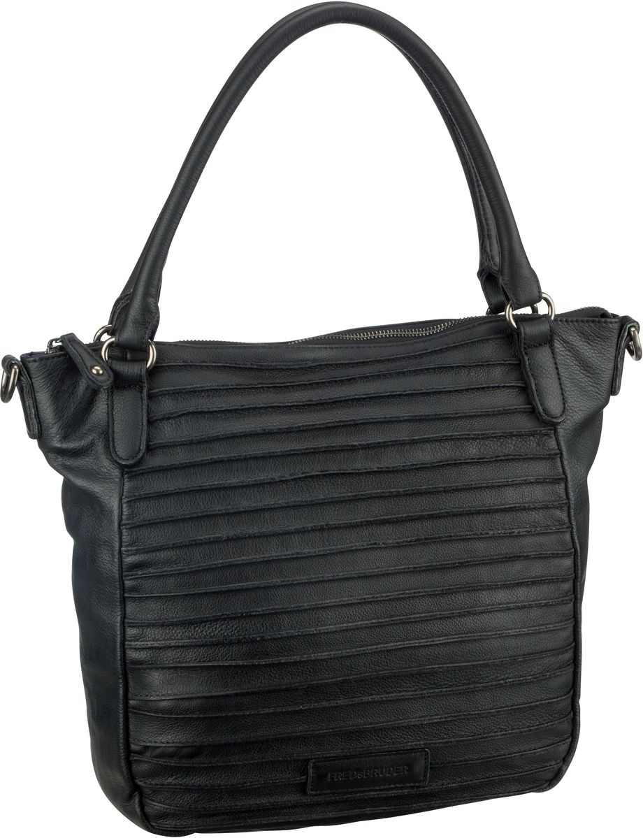 Handtasche Riffelherzchen Black