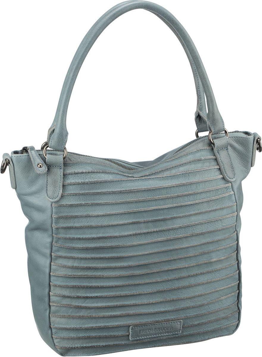 Handtasche Riffelherzchen Light Blue