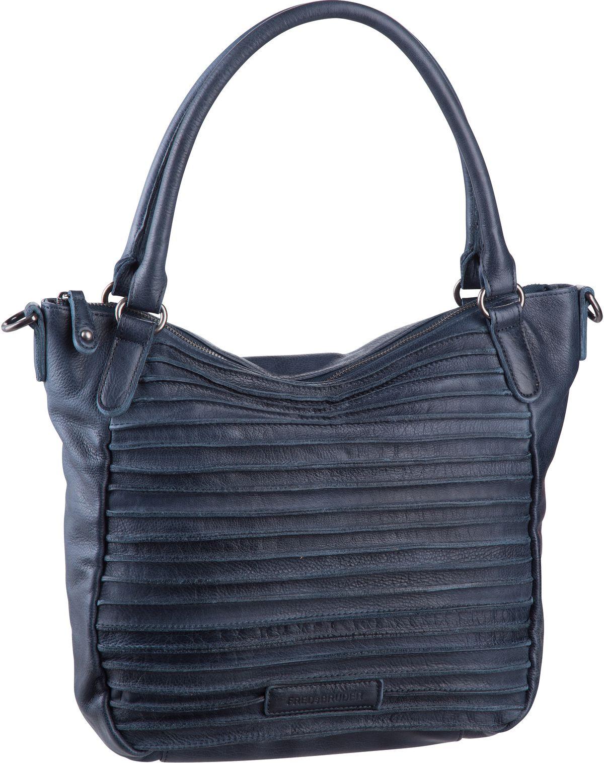 Handtasche Riffelherzchen Deep Blue