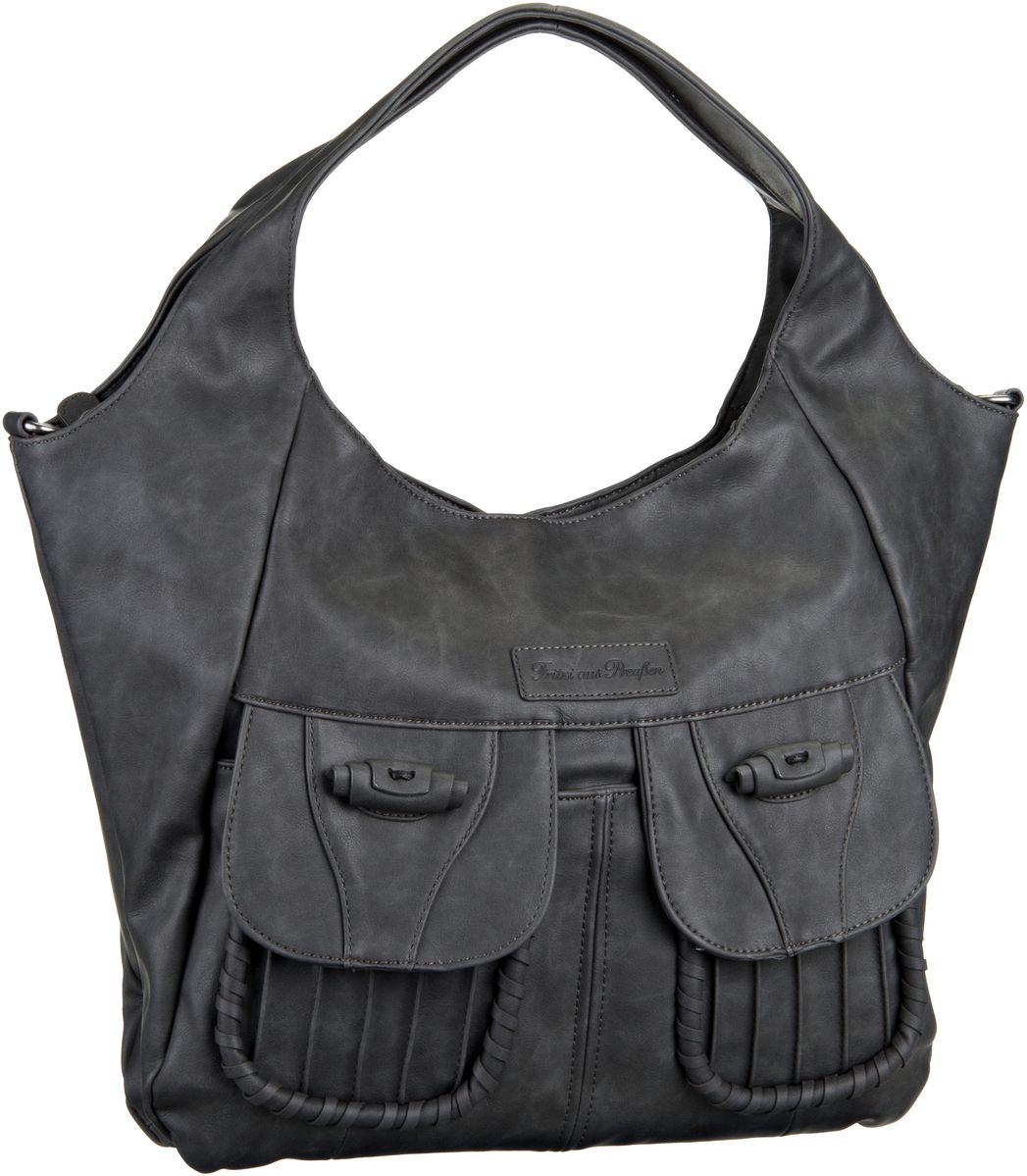 Fritzi aus Preußen Brianna Nubuk Black - Handtasche Sale Angebote Haasow