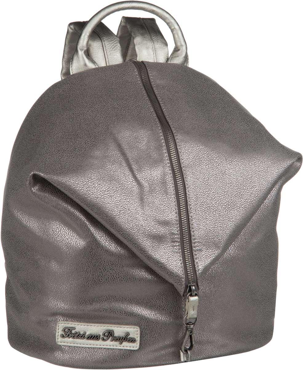 Rucksaecke für Frauen - Fritzi aus Preußen Rucksack Daypack Marit Ray Saddle Silver  - Onlineshop Taschenkaufhaus