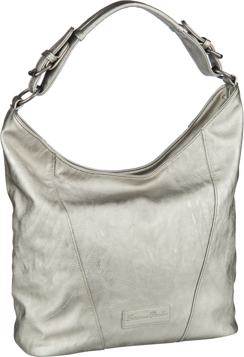 Handtaschen für Frauen - Fritzi aus Preußen Handtasche Pelin Saddle Silver  - Onlineshop Taschenkaufhaus
