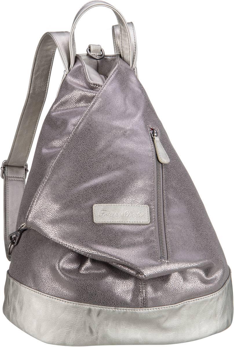 Rucksaecke für Frauen - Fritzi aus Preußen Rucksack Daypack Tomke Ray Silver  - Onlineshop Taschenkaufhaus