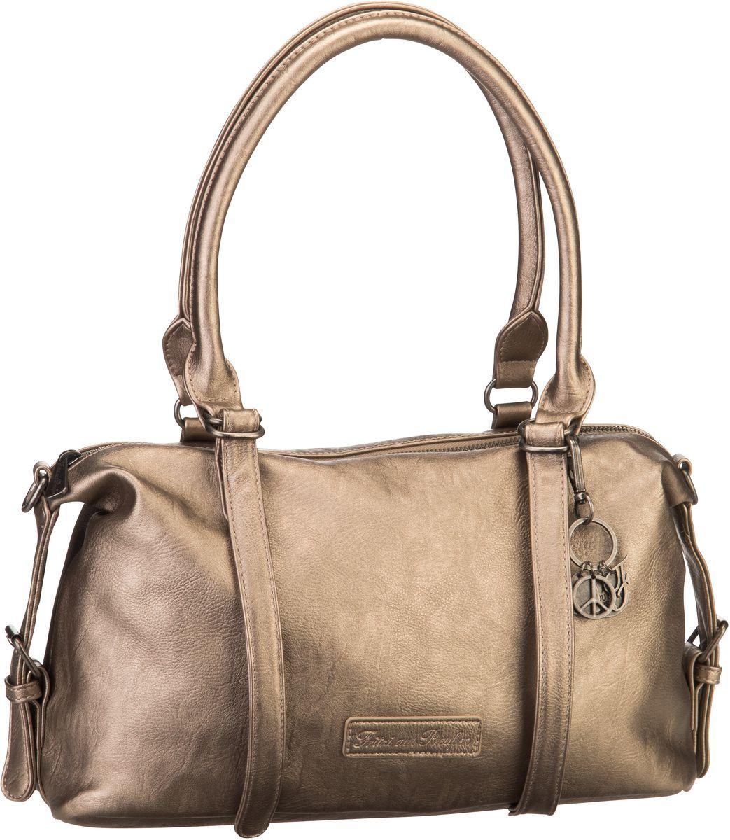 Handtasche Linda Saddle Warm Silver