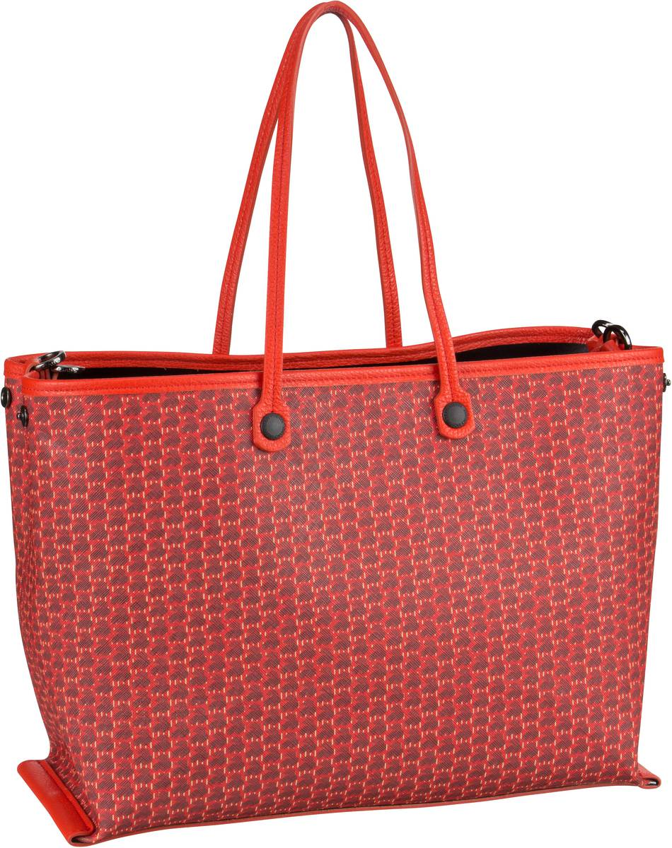 Handtasche Tania Thin Handles Black Medium Rosso