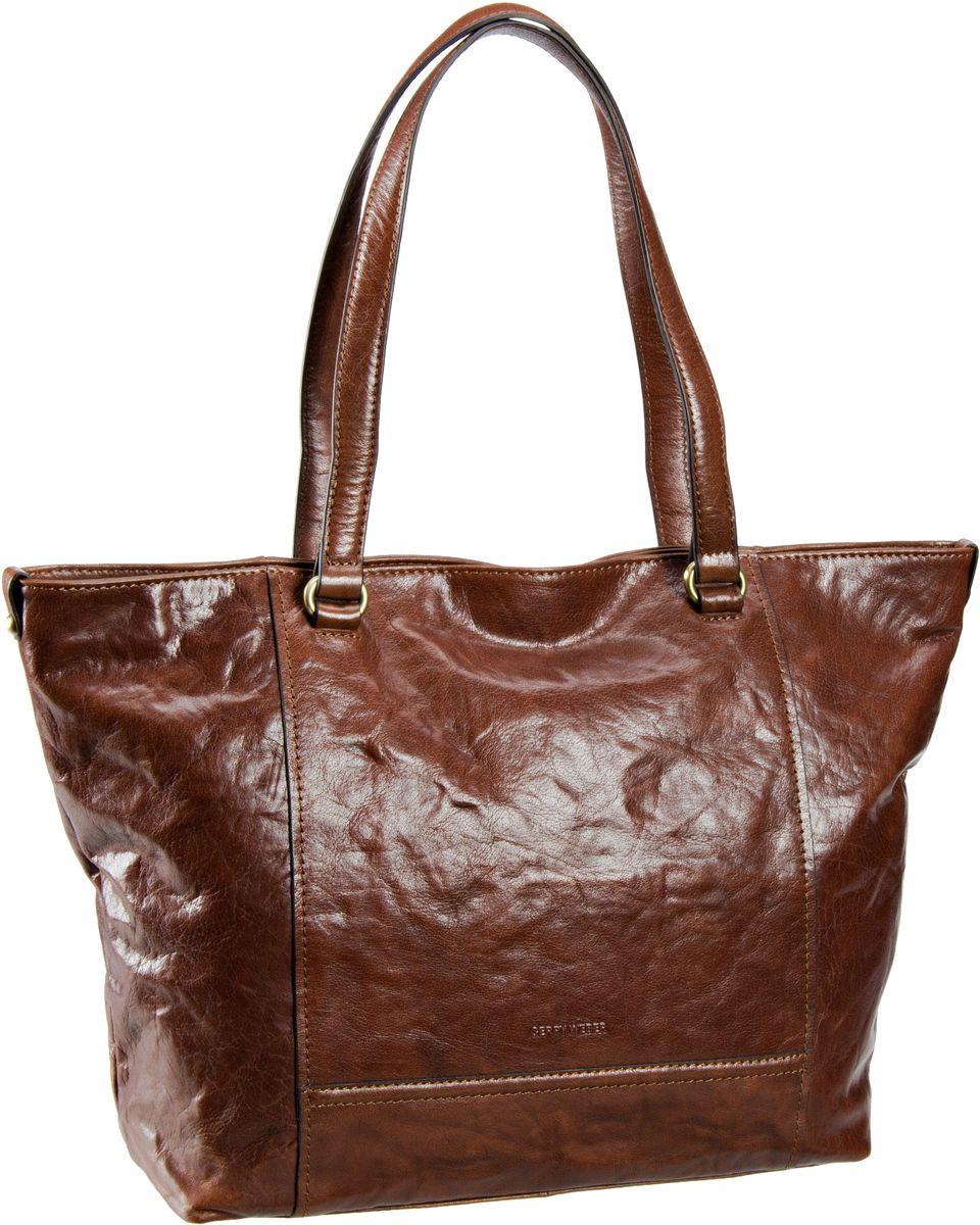 Handtasche Lugano Shopper Cognac