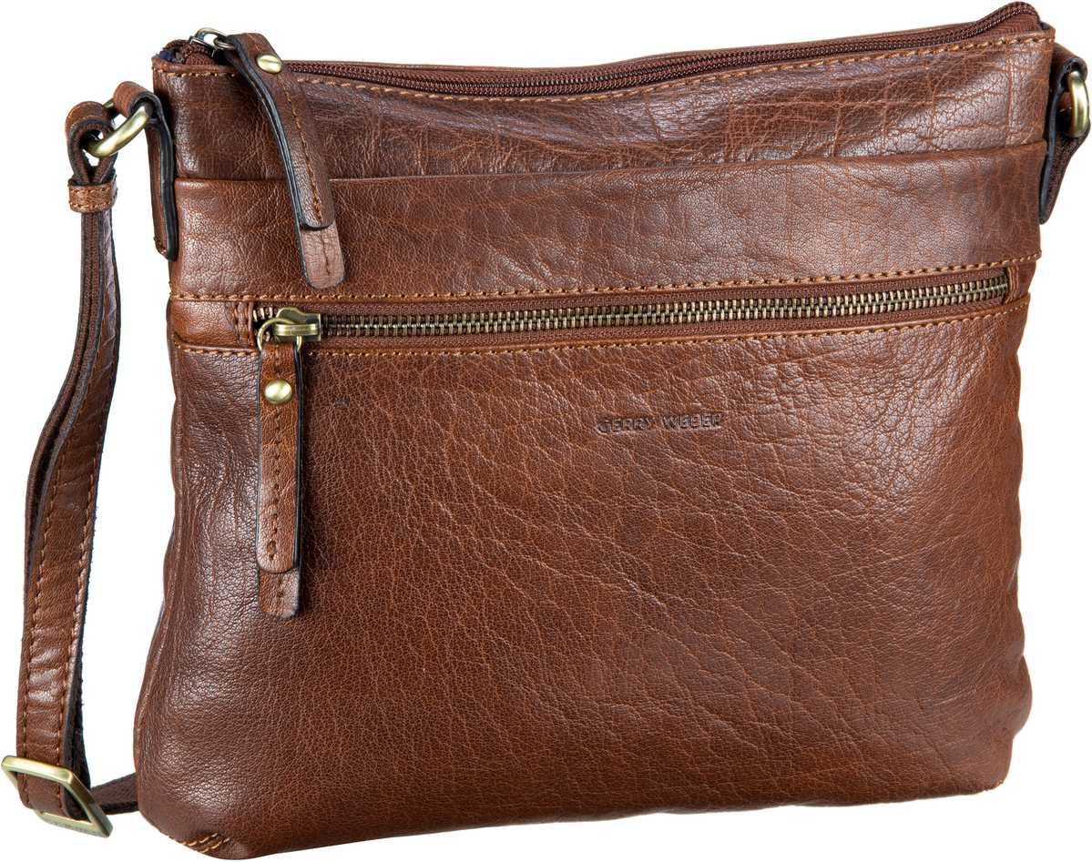 Schultertaschen für Frauen - Gerry Weber Umhängetasche Lugano ShoulderBag MHZ Cognac  - Onlineshop Taschenkaufhaus
