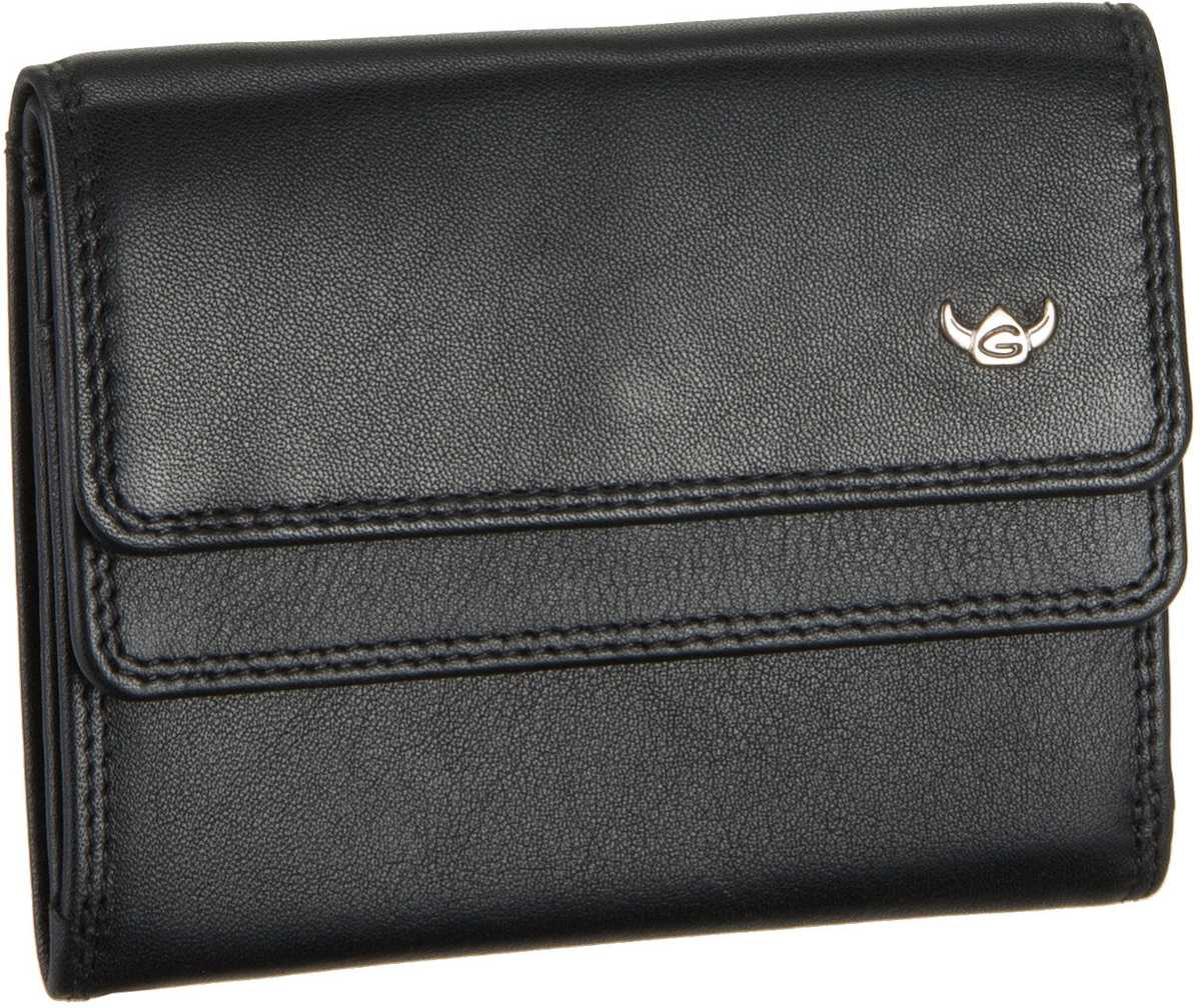 Geldboersen für Frauen - Golden Head Geldbörse Polo 1176 Überschlagbörse Schwarz  - Onlineshop Taschenkaufhaus