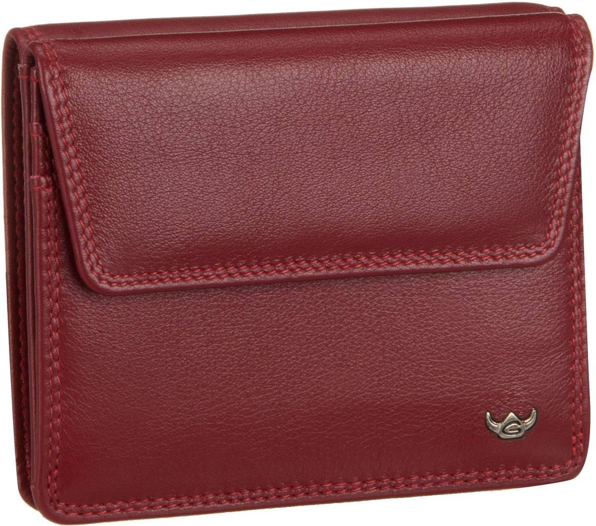 Geldboersen für Frauen - Golden Head Geldbörse Polo 1175 Überschlagbörse Rot  - Onlineshop Taschenkaufhaus