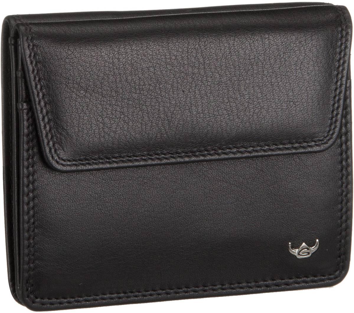 Geldboersen für Frauen - Golden Head Polo 1175 Überschlagbörse Schwarz Geldbörse  - Onlineshop Taschenkaufhaus