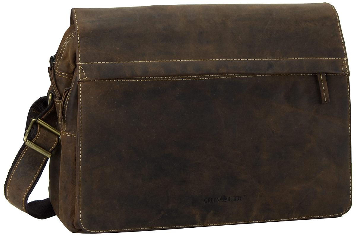 Umhängetasche Vintage A4 Tasche Sattelbraun