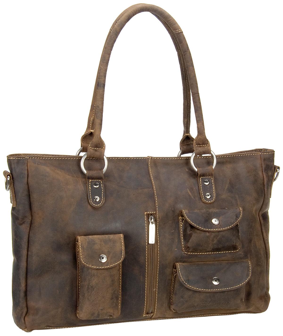 Handtasche Vintage Revival Vol.1 Shopper Sattelbraun