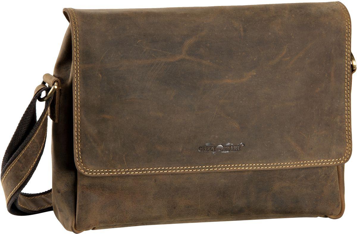Umhängetasche Vintage A4 Umhängetasche Sattelbraun