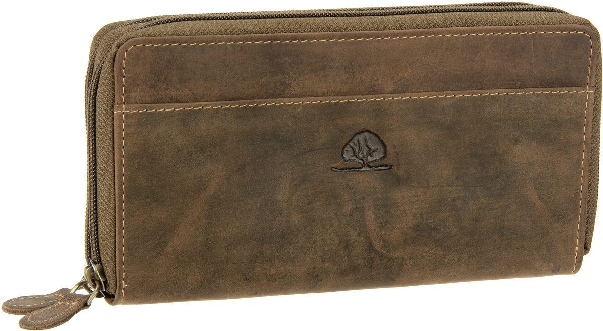 Geldboersen für Frauen - Greenburry Kellnerbörse Vintage Leder Doppel Langbörse Sattelbraun  - Onlineshop Taschenkaufhaus