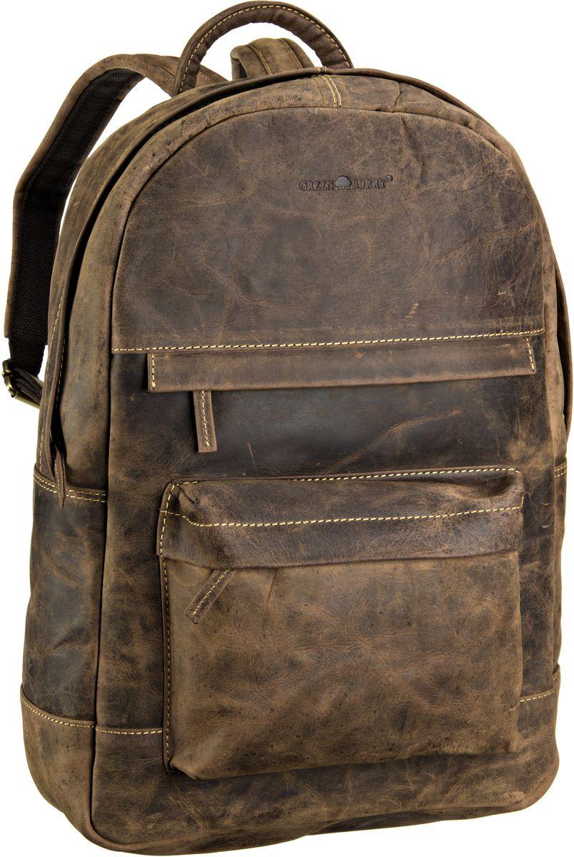 Laptoprucksack Vintage Rucksack Zip Around Sattelbraun