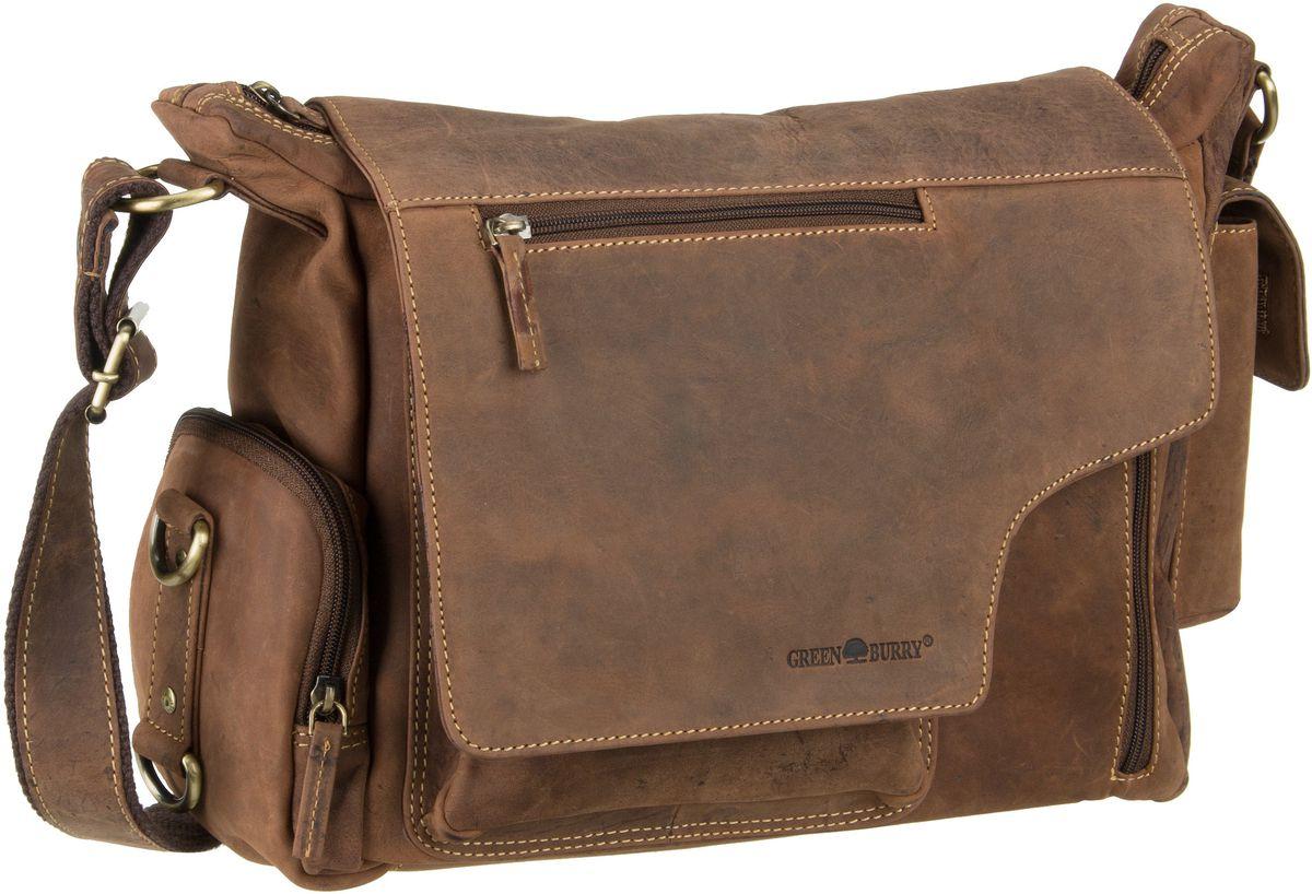 Umhängetasche Vintage New Hunting Bag II Sattelbraun