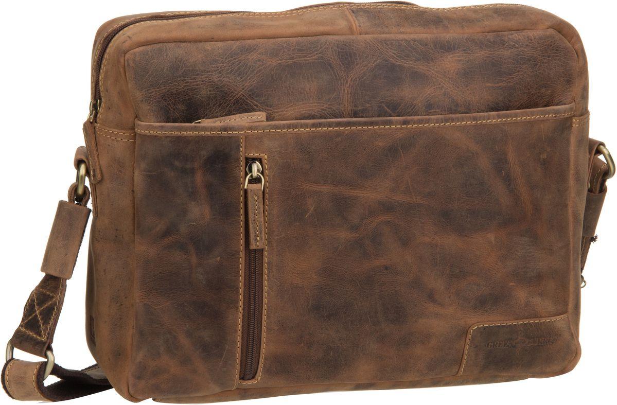 Umhängetasche Vintage 1653 Reporter Bag Sattelbraun