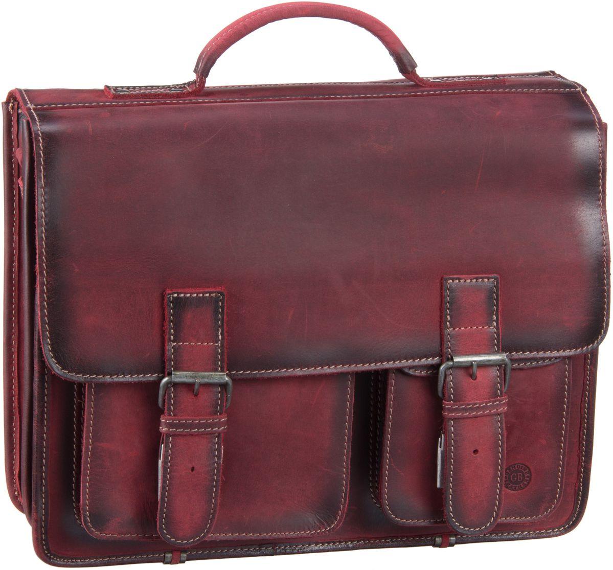 Businesstaschen für Frauen - Greenburry Aktentasche Buffalo 1028 Mappe XXL Burnish Red  - Onlineshop Taschenkaufhaus