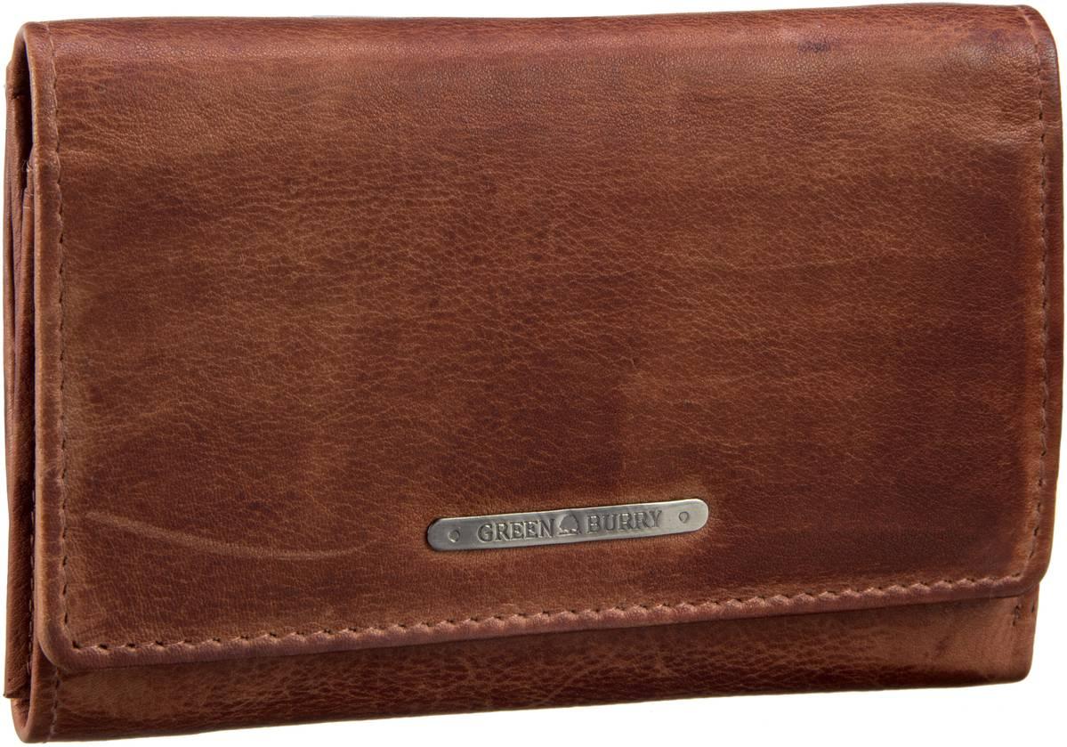 Geldboersen für Frauen - Greenburry Dirty Washed 842 RV Damenbörse Cognac Geldbörse  - Onlineshop Taschenkaufhaus