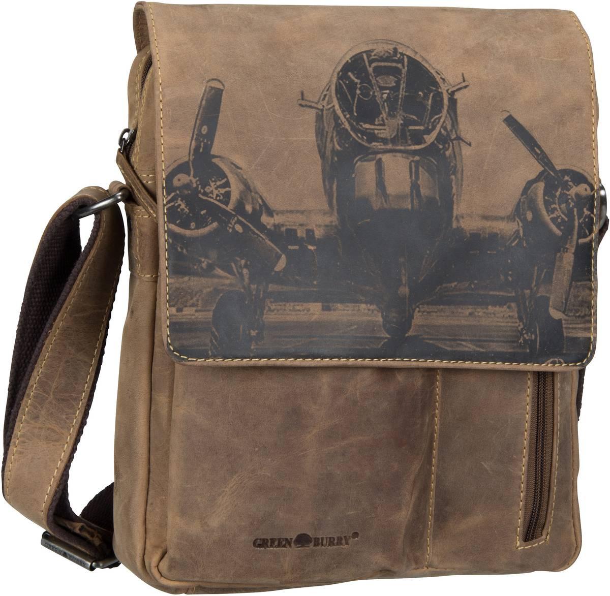 Umhängetasche Vintage 1639 Schultertasche RFID Brown