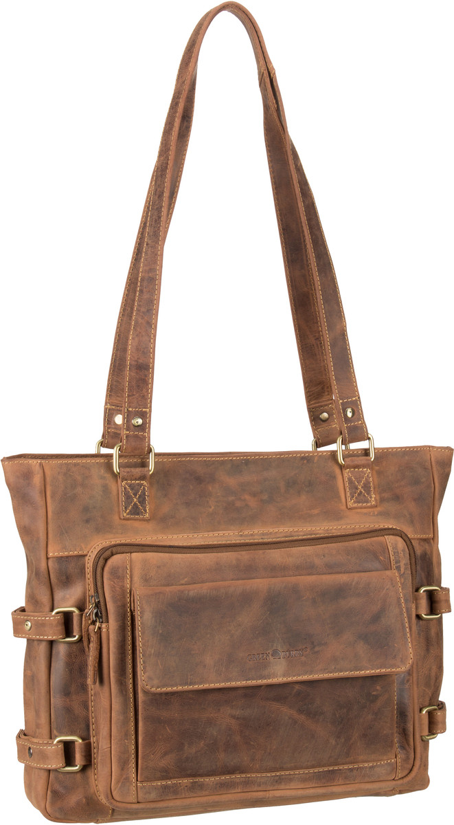 Handtasche Vintage 1635 Shopper Sattelbraun
