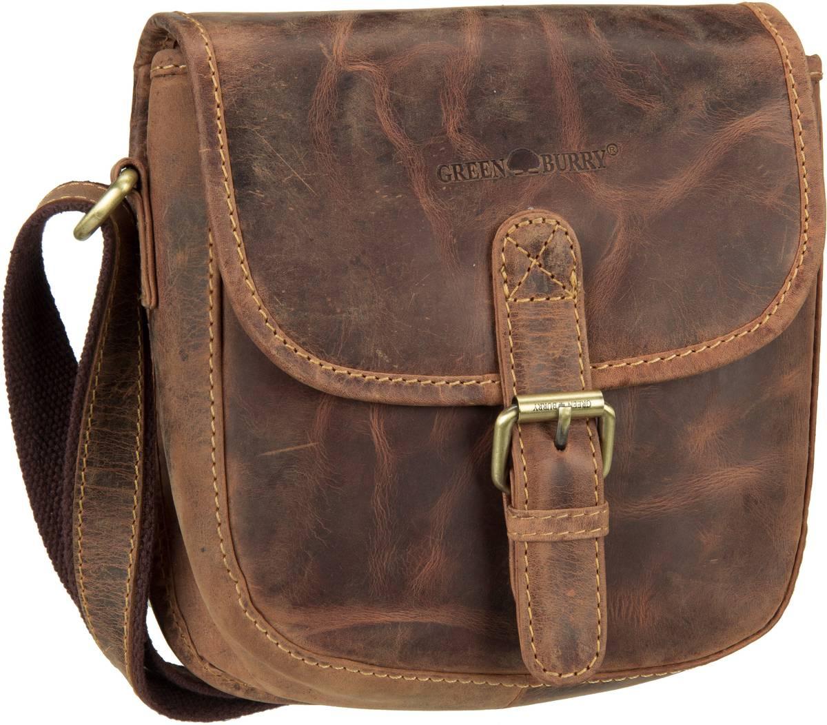 Umhängetasche Vintage 1630 Jagdtasche Sattelbraun