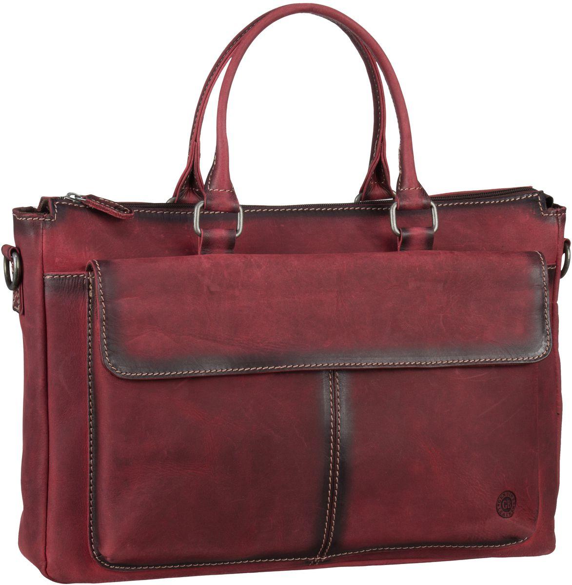 Businesstaschen für Frauen - Greenburry Aktentasche Buffalo 1045 Mappe Burnish Red  - Onlineshop Taschenkaufhaus