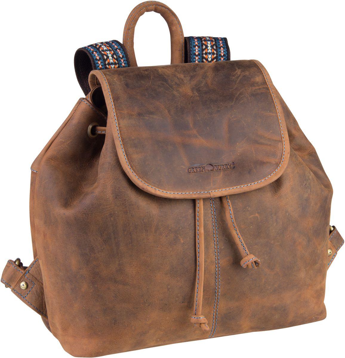 Rucksack / Daypack Vintage Santana 1617 Rucksack Sattelbraun