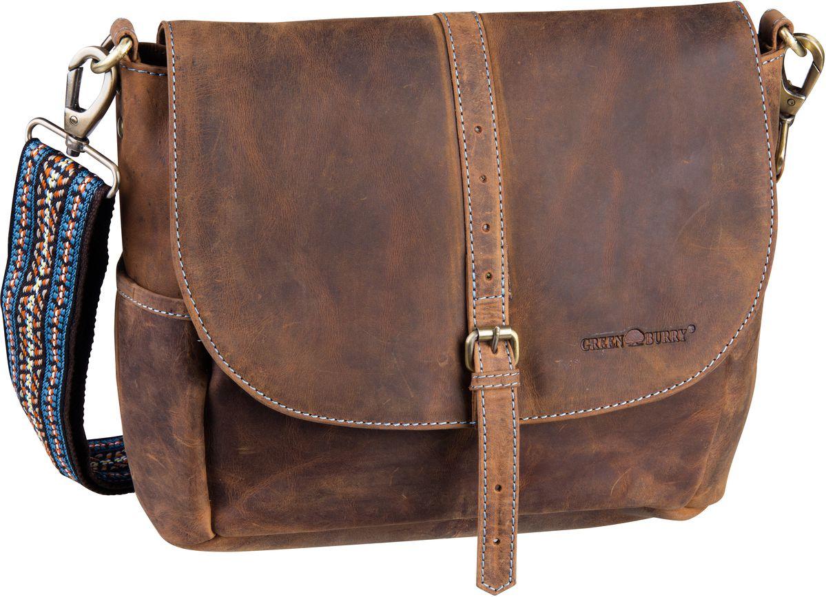 Umhängetasche Vintage Santana 1618 Überschlagtasche Sattelbraun