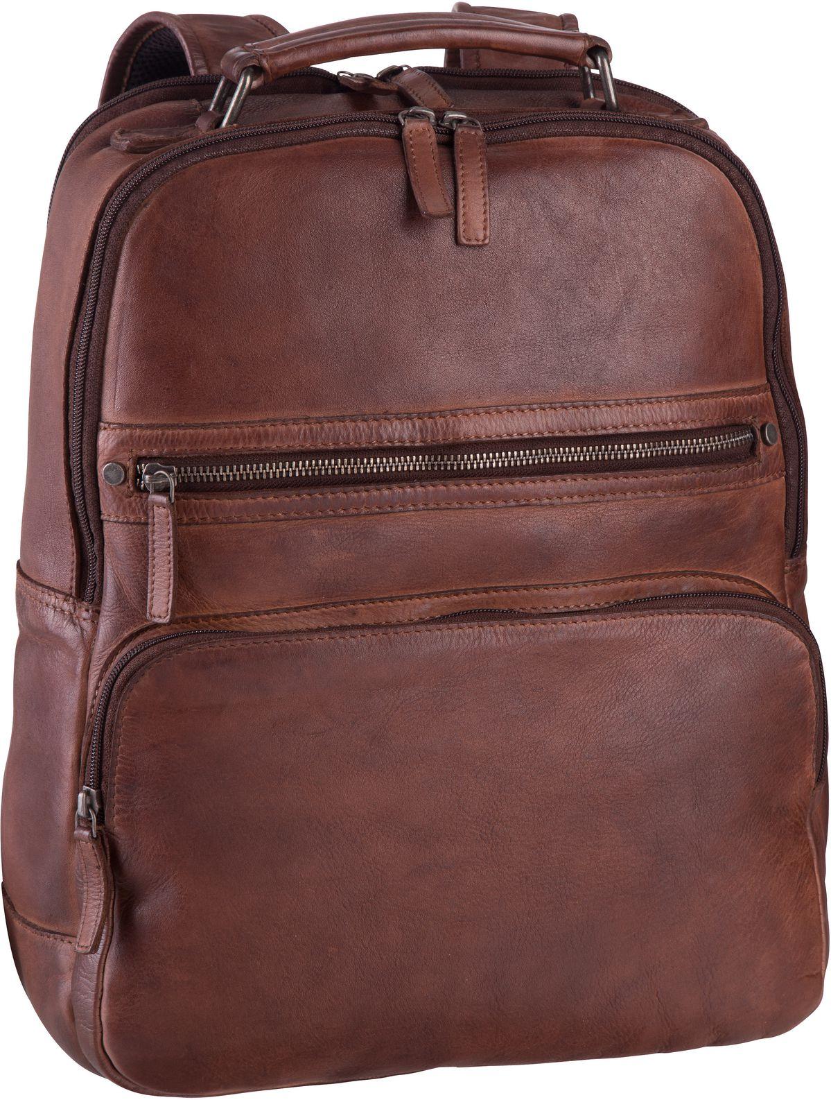 Rucksack / Daypack GBVT Washed 2909 Office Backpack Camel