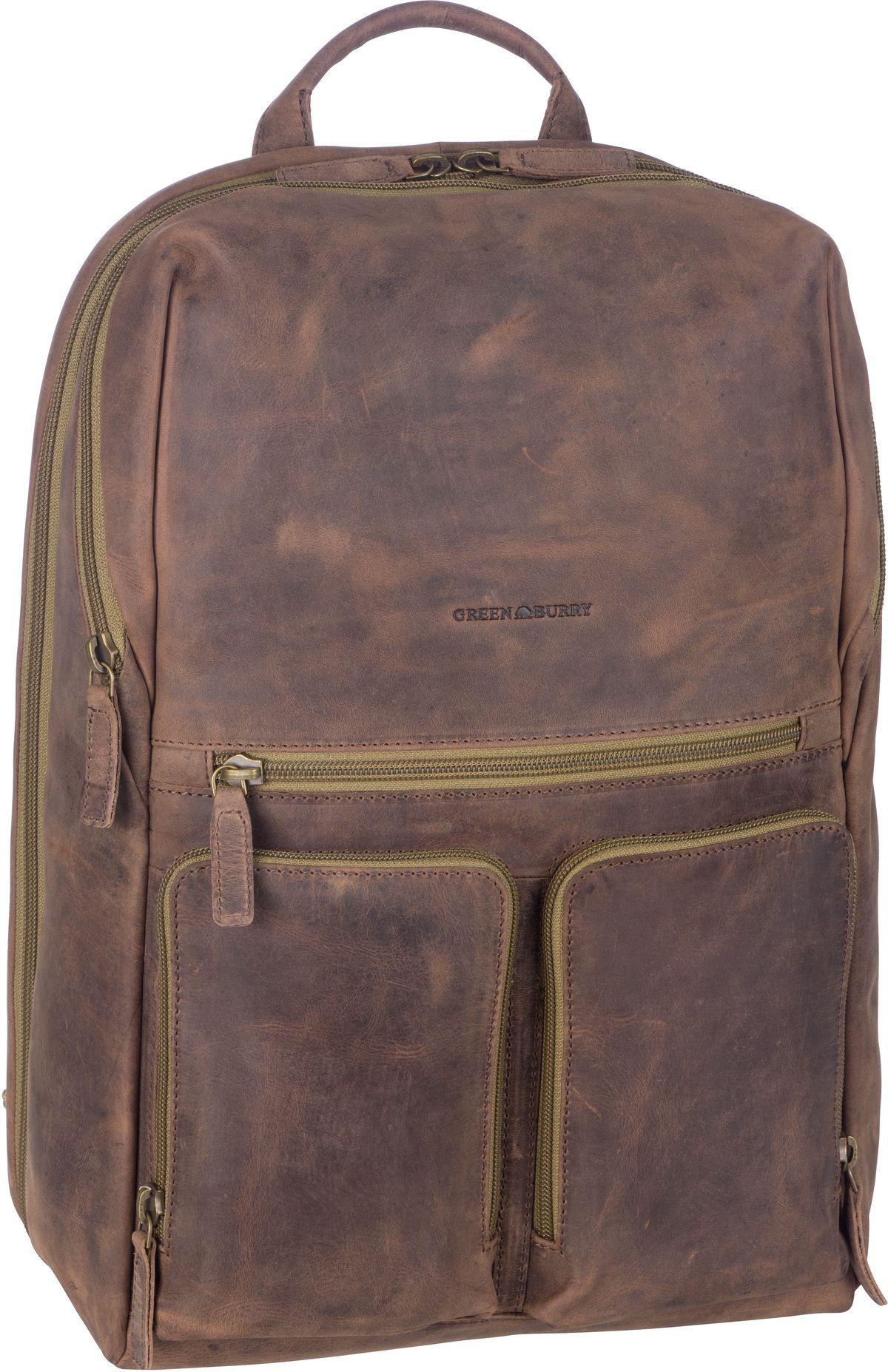 Laptoprucksack Vintage Tec 1586 Brown/Olive