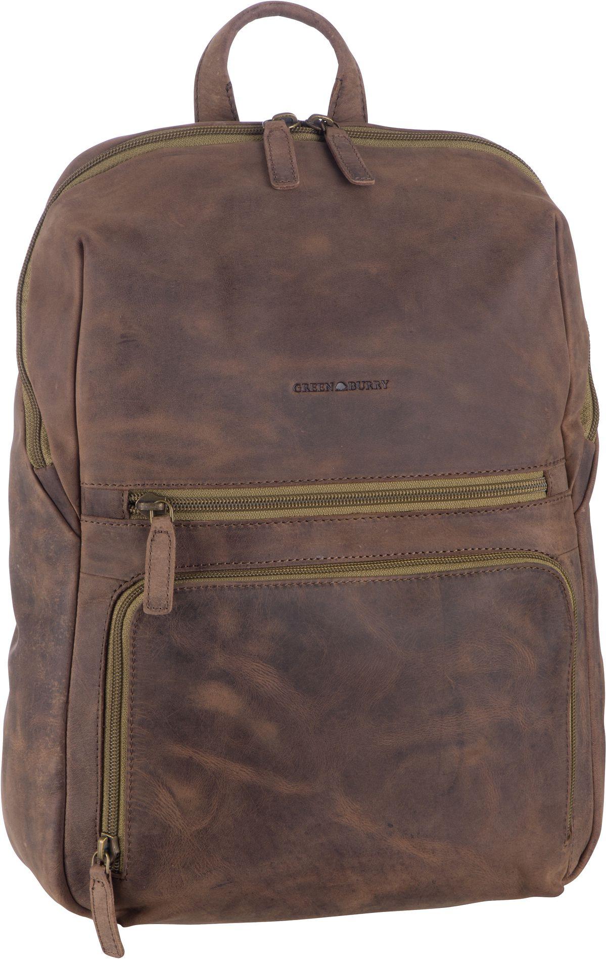 Laptoprucksack Vintage Tec 1587 Brown/Olive