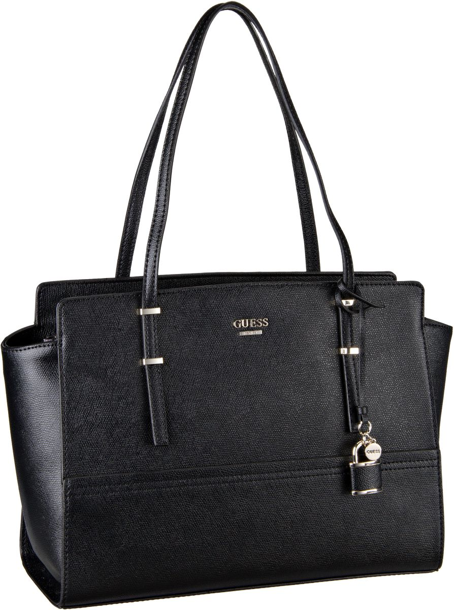 Guess Devyn Large Satchel Black - Handtasche Sale Angebote Guteborn